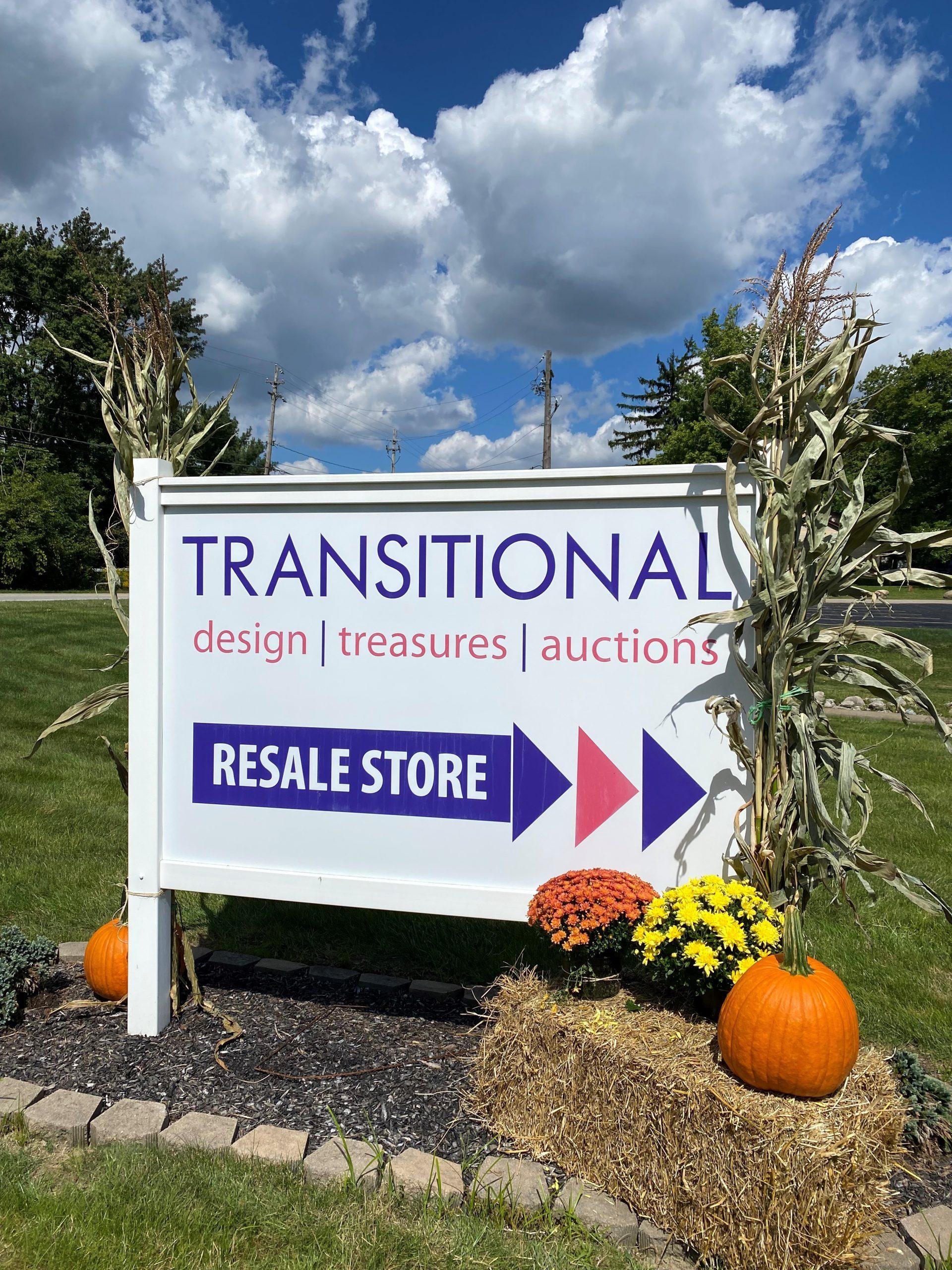 Transitional Design Sign
